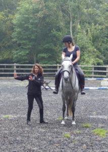 Regina explaining an exercise